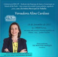 Vereadora Aline Cardoso No SEAC-SP.